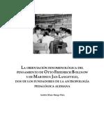 Antropologia Fenomenologica Aplicada a La Fenomenología Por Bollnow