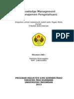 Tugas Filsafat Administrasi - Knowledge Management