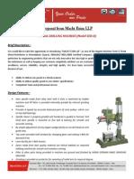 Proposal of Radial Drill Machine SER-II