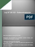 Ley de Subcontratacion 20123