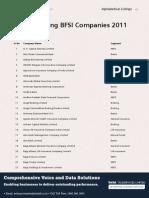 Bfsi Listing