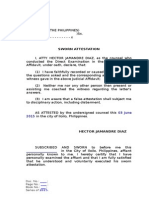 Judicial Afdvt - Attestation Clause GENERIC