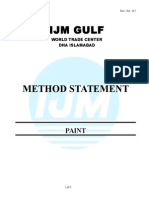 Method Statement for Paint
