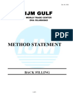 Method Statement for BACK FILLING Final