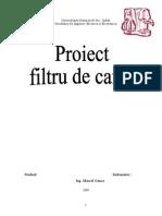 Proiect Filtru de Cafea