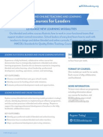 Blended and Online Courses for Leaders
