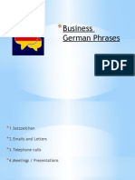 Business German Phrases