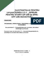GS 2.3.1_sprijin Start Up Si Spin Off_apel 2010