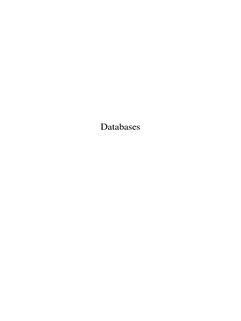 Databases Wikibook | Relational Database | Databases