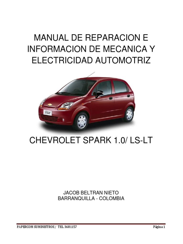 manual spark ls lt rh scribd com manual de mecanica automotriz chevrolet spark manual de mecanica automotriz chevrolet spark