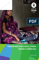 Financing Healthcare for All in India: Towards a Common Goal