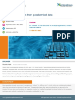 Extracting Information From Geochemical Data