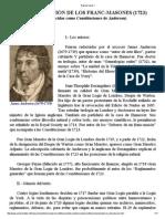 Constitucion masonica de 1723
