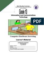 TLE-ICT-Computer Hardware Servicing Grade 10 LM