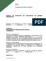 Estatutos de Agrupación de Interés Urbanístico