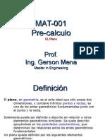 MAT-001. El Plano