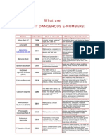 Food Safety; What Are the Most Dangerous E-Numbers?... Recommanded by Dr. Mohamad Azzam F. Sekheta
