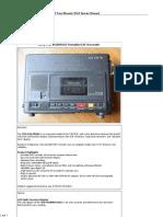 Sony TCD-D10PROII Portable DAT Recorder