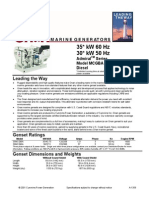 Datasheet Motor Generador - Cummins Onan 30MCGBA