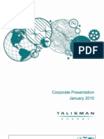 Talisman - Corporate Presentation Jan 2010