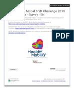 Y4PT World Modal Shift Challenge 2015 - 2nd Edition - Survey - EN - FULL