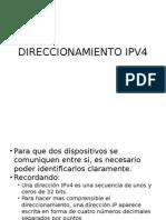 DIRECCIONAMIENTO IPV4