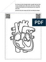 human heart coloring sheet with qr codes