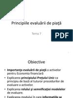 Tema 7 Principiile Evaluării de Piaţă