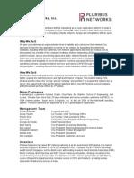 Pluribus Networks Fact Sheet