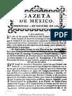Gazeta de México (1784). 1-12-1784