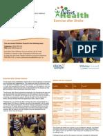 Exercise After Stroke Leaflet September 2014