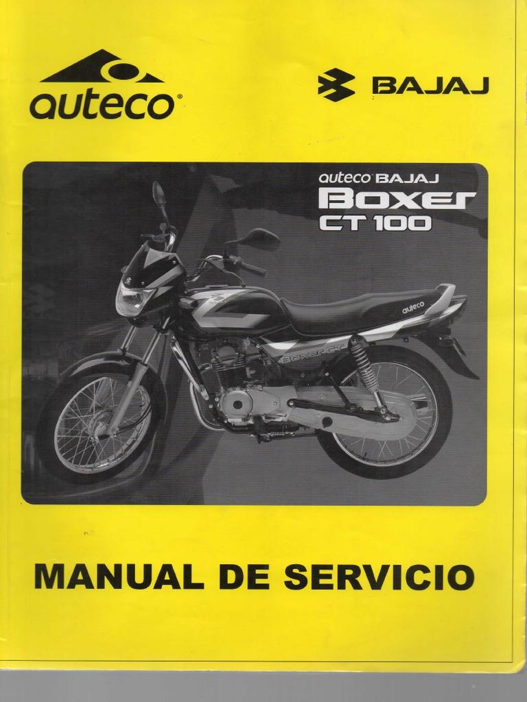 Manual de Servicio Boxer CT 100.