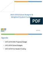 NYC DOE FY16 Fair Student Funding Proposal