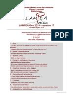 LAMPEA-Doc 2015 - numéro 17 / Vendredi 5 juin 2015