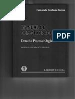 Manual Derecho Procesal Orgánico (competencia)