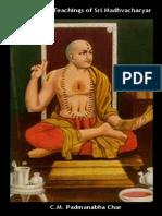 TheLifeAndTeachingsOfSriMadhvacharyar C.m.padmanabhaChar1909
