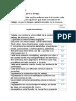 Rúbrica y lista de chequeo trabajo semestral