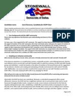 Donovan County Chair Questionnaire