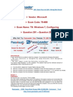 Premium Microsoft 70-680 574q Exam PDF Dumps for Free Share 201-250-Libre