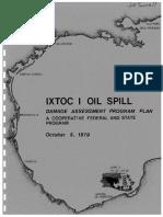 Ixtoc-I Oil Spill Damage Assessment Program-1979