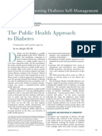 The Public Health Approach to Diabetes.14