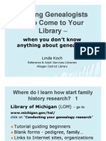 Helping Genealogists Who Come to Your Library