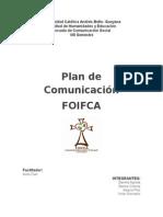 Plan de comunicación FOIFCA