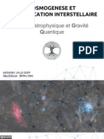 Cosmogenèse cosmoholographie et communication interstellaire