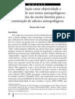 A Articulação Entre Objetividade e Subjetividade Nos Textos Antropológicos