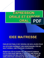 Expression Orale Et Expose Oral