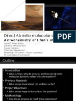 Ab Inito MD - Astrochemistry of Titan's Atmosphere - Danilo Perez and Dr. Juan Lopez