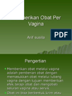 Pemberian Obat Per Vagina