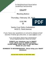 Snapp Agenda 021810