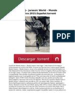 ~ [ES]~ Jurassic World – Mundo Jurasico.2015.Español.torrent